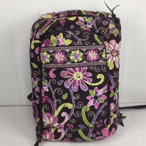 Vera Bradley Laptop Backpack Purple Punch Floral
